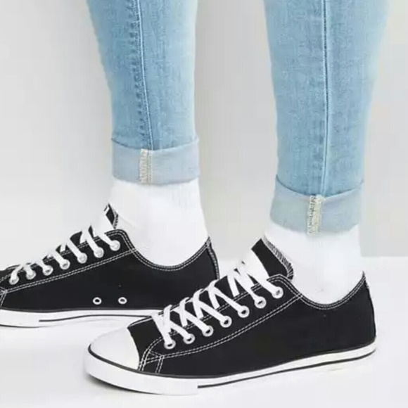 d3331604f942 NWT Converse Chuck Taylor All Star Black Lean Low